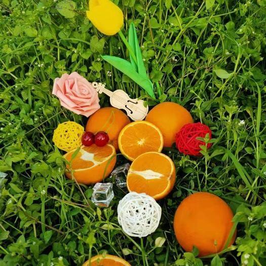 重庆江津甜橙 供应正品长叶香橙鲜果 带叶销售 4个精品迷你盒