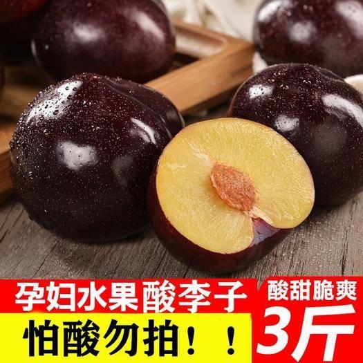 上海黄浦 陕西周至黑布林李子黑巨李黑美人新鲜水果批发包邮