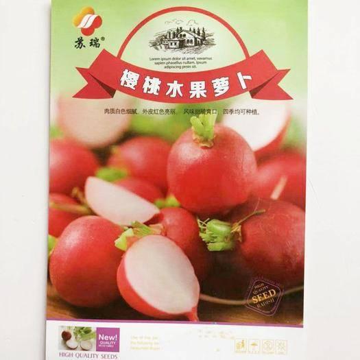 淮安淮阴区樱桃萝卜种子 樱桃水果萝卜5克袋装