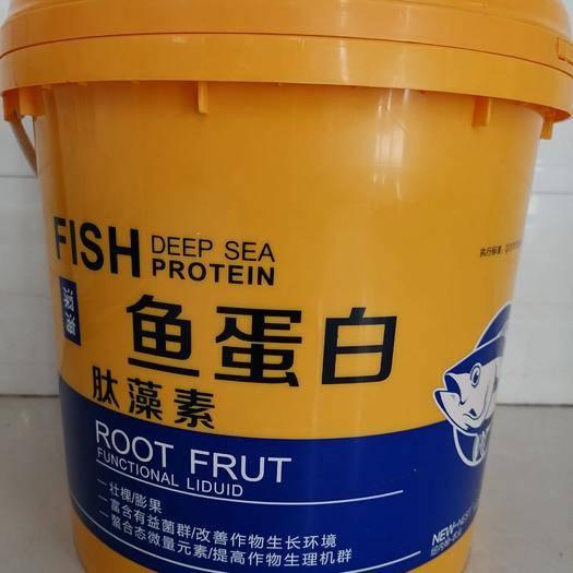 寿光市黄腐酸钾 鱼蛋白肽藻素冲施液10公斤/桶  冲施肥 厂家直销肥料