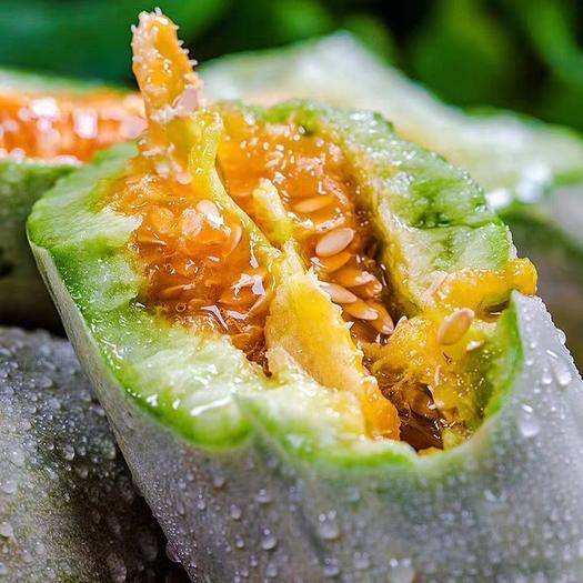 安丘市羊角蜜甜瓜 濰坊基地直供包甜口感好約5斤裝