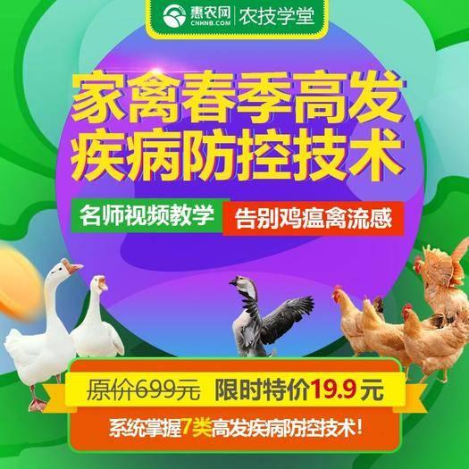 长沙农技人员 农技线上课|家禽春季高发疾病防控技术