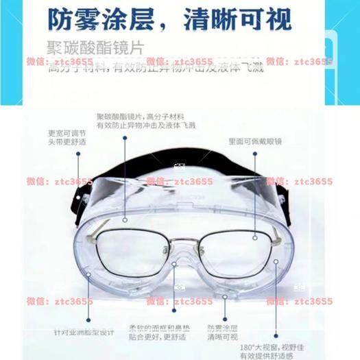 盘锦防风网 护目镜,防雾防液防冲击,可佩戴眼镜,针对此次疫情研发