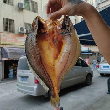 黄鱼干 福建宁德特产大黄鱼,去鳞去鳃去内脏腌制而成黄鱼鲞,一袋一斤,