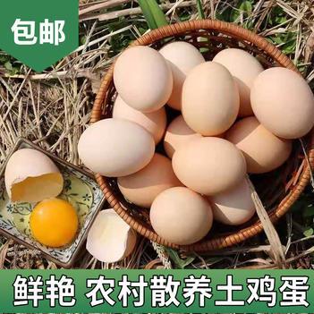批发30枚40枚正宗农村散养土鸡蛋鲜艳草鸡蛋柴鸡蛋月子蛋
