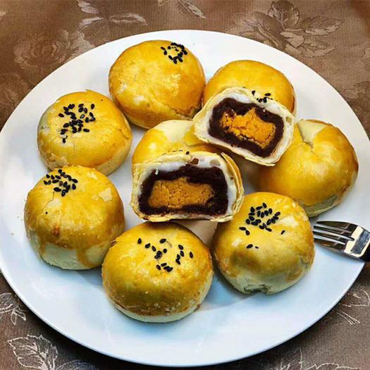 南寧江南區 蛋黃酥2盒裝 海鴨蛋點心紅豆餡餅禮盒裝送禮零食