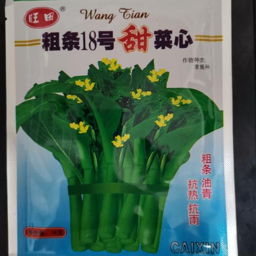 吳川市油菜籽種子 旺田粗條18號甜菜心   抗熱抗雨  粗條油青爽甜