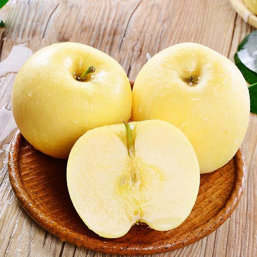 萊西市 黃金奶油富士蘋果 12枚  山東特產煙臺黃富士榨汁甜蘋果