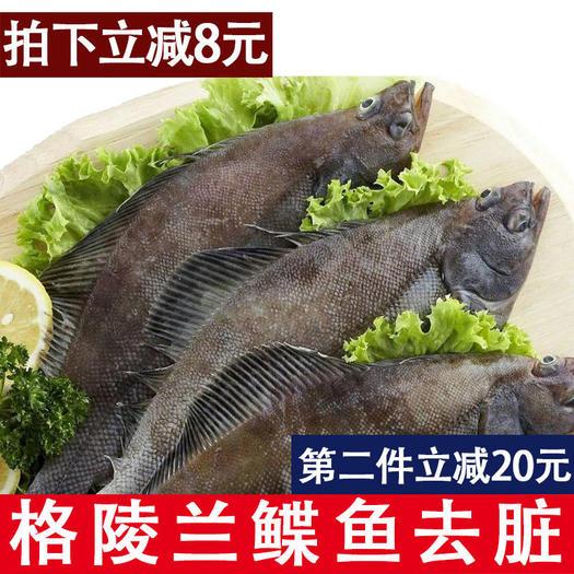 大连 包邮深海鲽鱼整条比目鱼带头去脏牙片鱼 船冻发货