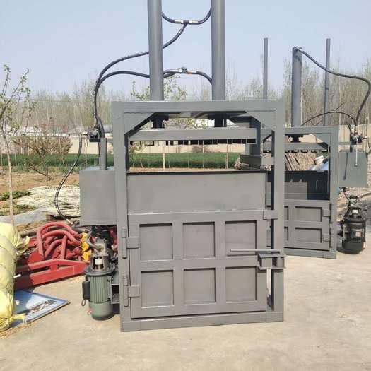 曲阜市 热销半自动废纸液压打包机优质新型油缸废纸收购立式压包机