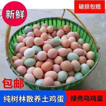 30枚40枚一件代发农村散养鲜艳绿壳土鸡蛋粉壳土鸡蛋混装