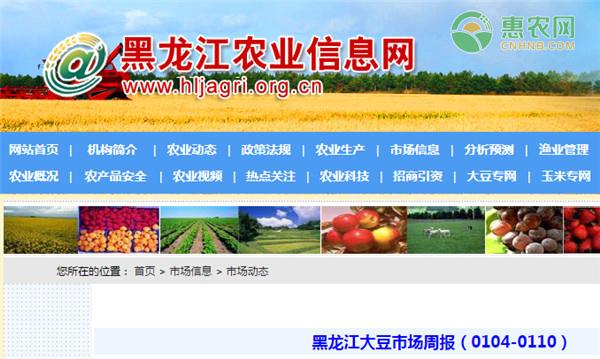 黑龙江大豆市场周报(0104-0110)