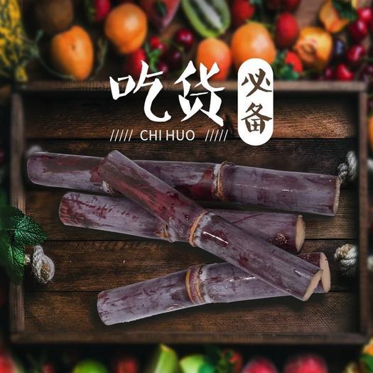 恭城瑤族自治縣 廣西甘蔗黑皮新鮮水果包郵9斤當季現砍現發脆清甜
