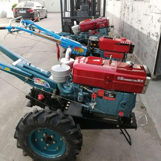 曲阜市 全新手扶拖拉機 柴油微耕機水旱兩用拖拉機多種配套工具廠家直銷