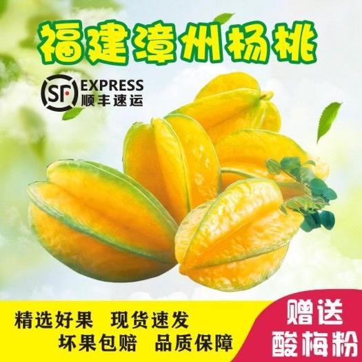 平和縣 福建漳州甜楊桃紅龍楊桃清甜無渣 泡沫箱5斤裝 包郵包售后